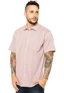 Camisa Manga Curta Quiksilver Terns Short Sleeve Roxo