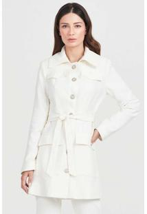 Trench Coat Botões Off White-48