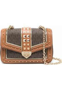 Michael Michael Kors Small Soho Frameout Chain Shoulder Bag - Marrom