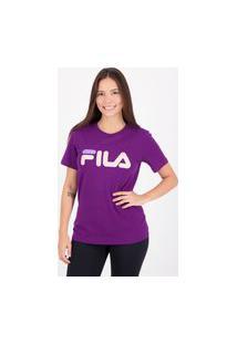 Camiseta Fila Basic Letter Feminina Roxa