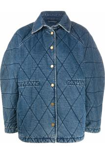 Remain Quilted Oversized Jacket - Azul