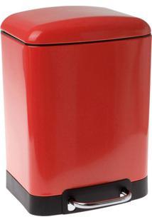 Lixeira Inox Modern Week Vermelha 6L - 21824