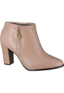 Bota Beira Rio Conforto Ankle Boot Feminina