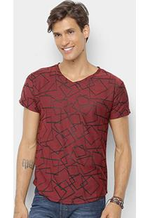 Camiseta Watkins & Krown Geométrica Masculina - Masculino-Vinho