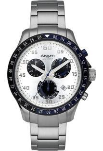 Relógio Akium Masculino Aço - G70730-2T Ipb-Band