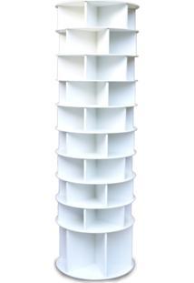 Sapateira Giratória Multidecor Com Divisória Para Botas 2,25M Branca - Kanui