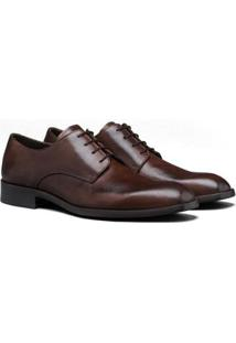 Sapato Social Couro Élie Derby Cassim Masculino - Masculino-Marrom