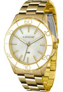 b47c62912a1 E Clock. Relógio Feminino Analógico Lince Dourado Lrgj067lb1kx