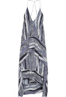 Vestido Cecilia Estampado - Azul