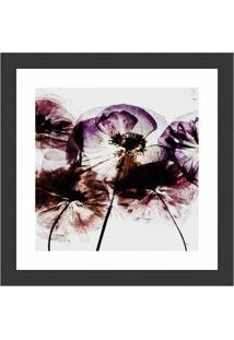 Quadro Decorativo Com Moldura Floral I Preto 30X30 Cm