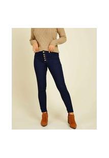 Calça Jeans Feminina Skinny Botões Biotipo