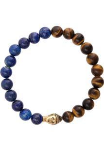 Nialaya Jewelry Pulseira Elástica De Pedras - Marrom