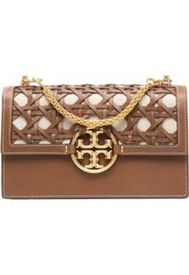 Tory Burch Miller Interwoven Shoulder Bag - Marrom