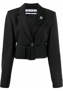 Off-White Blazer Cropped - Preto