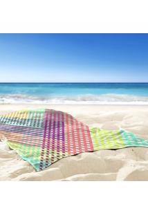 Toalha De Praia / Banho Traços Geometricos Color