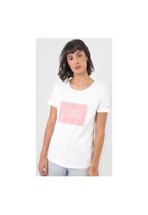 Camiseta Tommy Hilfiger Lettering Branca