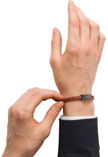 Prada Braided Leather Wrist Strap - Amarelo