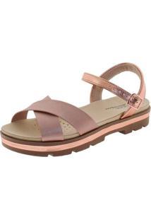 Sandália Modare Flatform Feminina - Feminino-Bronze