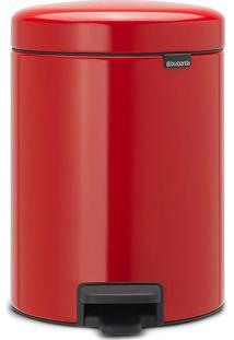 Lixeira New Icon- Inox & Vermelha- 5L- M.Cassabm.Cassab