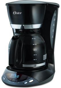 Cafeteira Oster Programável Black 36 Xicaras 127V Preta 900W De Potência