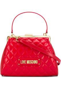 Love Moschino Diamond Quilt Tote Bag - Vermelho