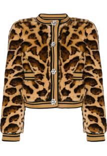 Dolce & Gabbana Jaqueta Com Estampa Leopardo - Marrom