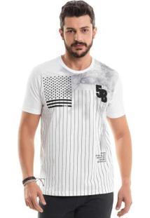 Camiseta Com Bordado Branco Bgo