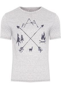Camiseta Masculina Arrows - Cinza
