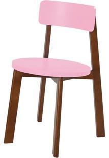 Cadeira Lina Cor Cacau Com Rosa Cristal - 35855 - Sun House