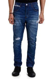 Calça John John Mc Rock Zimbabue 3D Jeans Azul Masculina Cc Mc Rock Zimbabue 3D-Jeans Medio-46