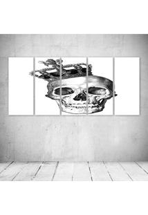 Quadro Decorativo - King Skull (2) - Composto De 5 Quadros