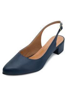Sapato Scarpin Aquarela Aq21-004 Marinho