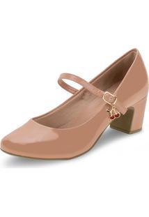 Sapato Feminino Salto Baixo Villa Rosa - 886188200 Bege 34