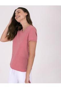 Camiseta Reta Feminina Gola V - Feminino