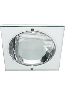Luminária De Embutir Quadrada Branca 1Xe27 Bonin 4282Bc