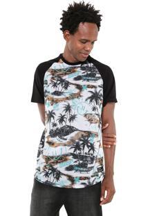 Camiseta Hurley Outrigger Branca/Preta