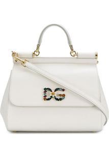 Dolce & Gabbana Bolsa Tiracolo Sicily Média - Branco