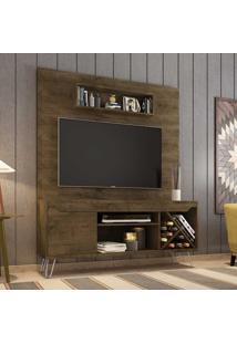 Estante Para Tv Até 52 Polegadas 1 Porta 5 Prateleiras Com Adega Lauren 2075344 Rústico - Bechara Móveis
