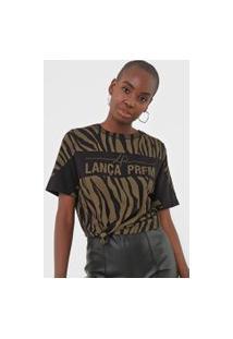 Camiseta Lança Perfume Animal Print Preta/Verde