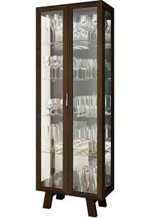 Cristaleira 2 Portas Cr6000 – Tecno Mobili - Tabaco