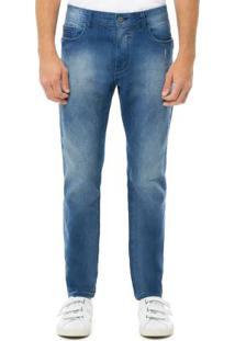 Calça Jeans Slim Turbofan Azul Hangar 33