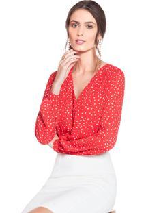 Camisa De Poá Vermelha Principessa Caterin