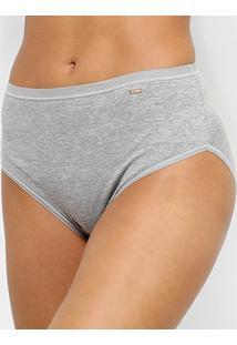 Calcinha Lupo Clássica Hot Pants - Feminino-Cinza