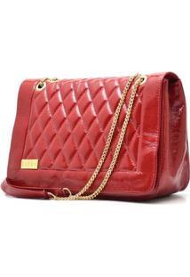 Bolsa Hendy Bag Couro - Feminino-Vermelho Escuro