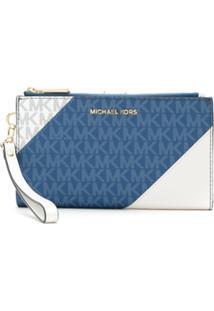 Michael Michael Kors Carteira Com Logo - Azul