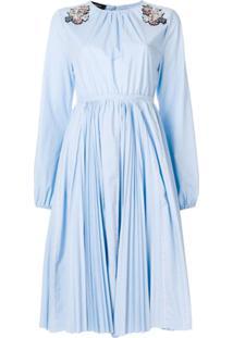 Rochas Vestido Com Detalhe De Paetês - Azul