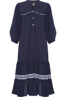 Vestido Mix Laises Betty - Azul