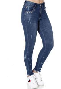 Calça Jeans Skinny Feminina Zune Azul