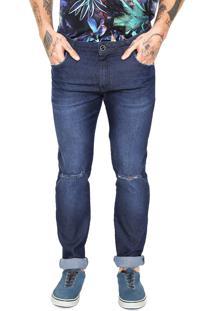 918ea3c37 ... Calça Jeans Coca-Cola Jeans Skinny Estonada Azul