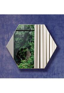 Espelho Hexágono 100% Mdf Es1 34,5 Cm Of White - Dalla Costa